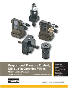 Parker Proportional Pressure Control DIN Slip-in Cartridge Valves